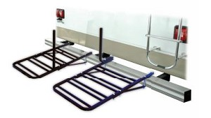 80600 Swagman Bike Rack - Bumper Mount Holds 4 Bikes With 2 Wide Tires