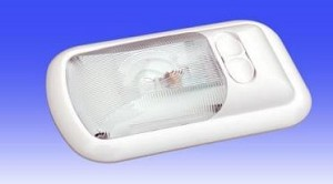 DIST-311-1 Thin-Lite Dome Light Clear Polycarbonate Lens