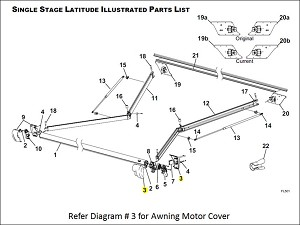 R001783-006 Carefree RV Awning Motor Cover For Use With