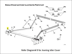R001785-006 Carefree RV Awning Idler Cover For Use With Latitude