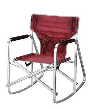SL1205-BURGUNDY Ming's Mark Chair Rocking Director Chair