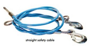 910648-12 Roadmaster Trailer Safety Cable 8000 Pound Rated